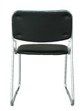 Back view of black modern chair isolated on white. With clipping path Stock Image