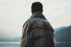 Back, View, Blanket Royalty Free Stock Images