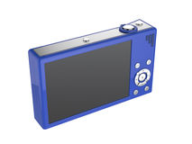 Blue digital camera Royalty Free Stock Photos