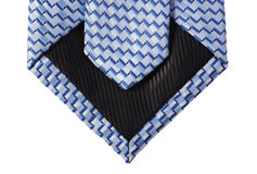 Back view of blue tie Royalty Free Stock Photos