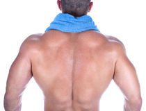Back view of a bodybuilder royalty free stock photos