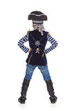 Back view of boy pirate pointing up Royalty Free Stock Image