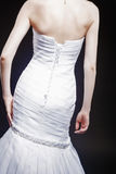 Back View of Bride in Wedding dress Royalty Free Stock Photos