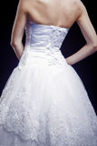 Back View of Bride in Wedding dress Royalty Free Stock Photography