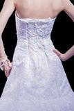 Back View of Bride in Wedding dress Stock Photography