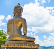 Back view Buddha statue on natural backgrounds Stock Images