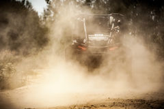 Back view of buggy riding along a country road. Stock Image