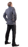 Back view of Business man  looks ahead Stock Photography