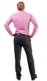 Back view of Business man  looks ahead Stock Image