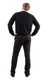 Back view of Business man  looks ahead Royalty Free Stock Photos