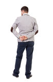 Back view of Business man  looks. Royalty Free Stock Photography
