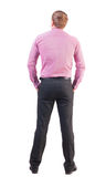 Back view of business man  in red shirt Stock Images