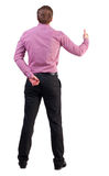 Back view of  business man shows thumbs up Stock Photography