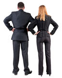 Back view of  business team look into the distance Royalty Free Stock Images