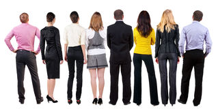 Back view of  business team looks Royalty Free Stock Image