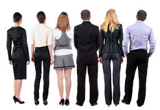 Back view of  business team looks Stock Image