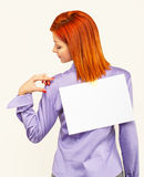 Back view of business woman Stock Photo