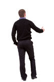 Back view of businessman Royalty Free Stock Images