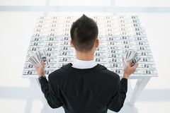 Money table Royalty Free Stock Photo