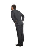 Back view of businessman in black suit Royalty Free Stock Image
