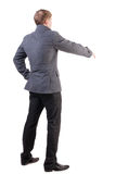 Back view of businessman in coat Royalty Free Stock Photo
