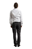 Back view of businessman looking up royalty free stock photos