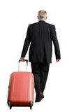 Back view of businessman with suitcase Stock Photo