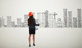 Back view of businesswoman Stock Photography