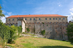 Back view of castle of Siklos, Royalty Free Stock Photos