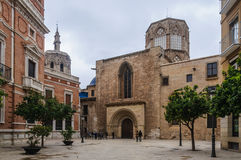 Back view of the Cathedral in Valencia, Spain Stock Image
