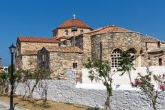 Back view of Church of Panagia Ekatontapiliani in Parikia, Paros island, Greece Royalty Free Stock Photo