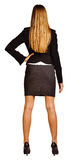 Back view of confident business woman. Royalty Free Stock Photography