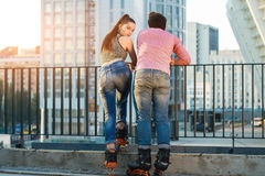 Back view of a couple. royalty free stock photo