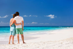 Couple on a tropical beach Royalty Free Stock Photo