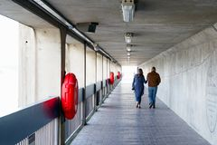 Thames Barrier passageway in London royalty free stock images