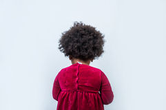 Back view of curly african child, studio shot Stock Photo
