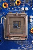 Back view of a DDR memory module. Stock Image