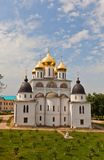 Back view of  Dormition Cathedral (1512) in Dmitrov, Russia Royalty Free Stock Images