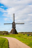 Back view Dutch windmill in autumn Stock Photography