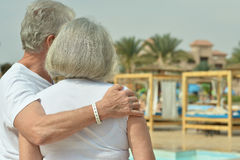 Back view of Elderly couple Stock Photography