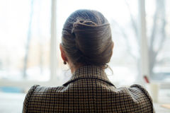 Back View of Elegant Woman stock image