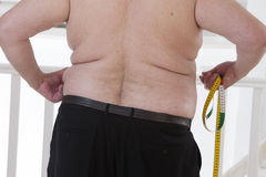 Back view of an fat  seior man Royalty Free Stock Images
