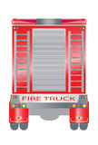 Back view of Fire truck Stock Photography