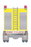Back view of Fire truck. Vector Back view of Big Fire truck Stock Images