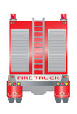 Back view of Fire truck Royalty Free Stock Photo