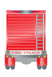 Back view of Fire truck. Vector Back view of Big Fire truck Stock Photos