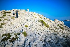 People climbing mountain royalty free stock images
