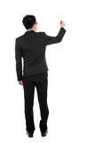 Back view full body business man writing Stock Image