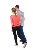 Back view going couple. Stock Images