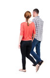 Back view going couple. Stock Image